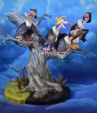"""WDCC The Jungle Book Vultures sculpture Titled """"Things Are Right Dead All Over"""""""