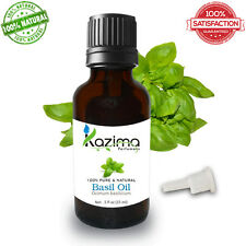 KAZIMA Basil Essential Oil (15ML) - Natural, Pure & Undiluted Oil