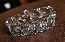 Antique Coins Silver Tone Collar Choker Necklace UK Shop