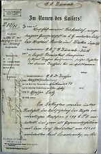 Gerichtsdokument / Klage gegen Dreyfus & Blumenthal 1905 / Mülhausen Judaica