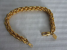 Anne Klein Bracelet Multi Link 8in Twisted Gold Fashion Costume Sturdy clasp New