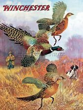 ANTIQUE UPLAND PHEASANT HUNTING WINCHESTER REPRO 8X10 PHOTOGRAPHIC REPRINT