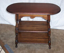 3 Tier Mahogany Side Table by Michigan Furniture Co  (T225)