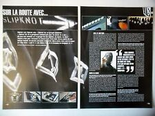 COUPURE DE PRESSE-CLIPPING :  SLIPKNOT [4pages] 2005 Mick Thompson,Sur la route