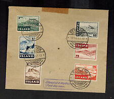 1947 Iceland First Day FLight Cover # C21-C26 FFC FDC