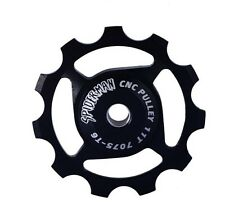 UK DISPATCHED - 11 T CNC T6 7075 ALUMINUM JOCKEY WHEEL   - BLACK
