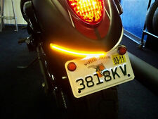 Kawasaki VN900 Custom LED Integrated Turn Signal Fender Light Bar - SMOKE