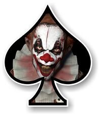 ACE OF SPADES With Scary Evil Horror Clown Vinyl Car Truck Helmet Sticker decal