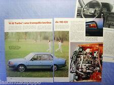 QUATTROR981-RITAGLIO/CLIPPING/NEWS-1981- RENAULT R18 TURBO -3 fogli