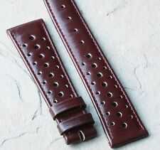 Oxblood vintage 20mm rally band 1960/70s Heuer Autavia GMT 2446c compatible band