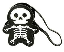 Cute Little Spooky Skeleton Wristlet Coin Purse Bag Goth Punk Alternative Grunge