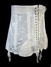 Rengo Vintage 1950s Corset with Attached Garters Size 35 Style 4161 Lace Up