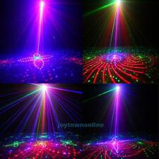 Mini 5 Lens 80 Pattern RGB Laser Projector LED Stage Lighting DJ Disco show Lamp