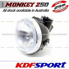 KDF HEADLIGHT LIGHT SPEEDO METER FRONT BLACK 50 BULB FOR HONDA MONKEY Z50 Z50J