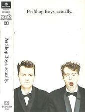 PET SHOP BOYS ACTUALLY CASSETTE ALBUM ELECTRONIC SYNTH-POP Parlophone