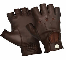 CHAUFFEUR MENS SOFT SHEEP LEATHER DRIVING GLOVES DRESS VINTAGE CLASSIC RETRO NEW