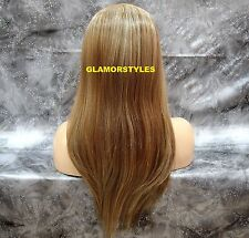 "29"" Layered Light Brown Mix 3/4 Half Fall Wig Heat Ok Full Hair Piece FS8/27/613"