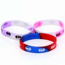 20x Wholesale Mix Color Silicone Oval Patterns Printed Sport Wristbands Straps C