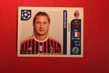 PANINI CHAMPIONS LEAGUE 2011/12 N 503 MEXES MILAN WITH BLACK BACK MINT!!