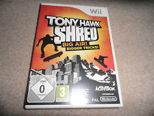 nintendo wii - tony hawk shred - boxed w/ snowboard