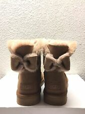 UGG NAVEAH MINI BAILEY BOW CHESTNUT WOMEN BOOTS USA 8 / EU 39 / UK 6.5 - NEW