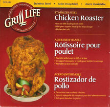 Grill Life Stainless Steel Up Right Beer Can Chicken Roaster for Grill or Smoker