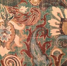 CLARENCE HOUSE Etro Darvel Oceano Paisley Blue Turquoise Cotton Linen Remnant