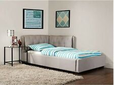 Convertible Twin Bed Sofa Sleeper Tufted Futon Couch Dorm Furniture Full Chaise