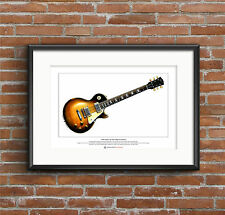 Slash's 1959 Gibson Les Paul Limited Edition Fine Art Print A3 size