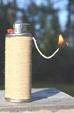 Hemp Wick Lighter Cover Case Bic Metal Sleeve ~ FREE SHIP!