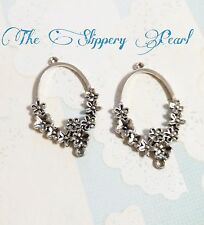 Chandelier Earring Components Earring Findings Pendants Antiqued Silver Floral