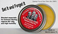 Stiff / Extreme - Mustache & Beard Wax 2oz - All Hair, Vitamins, NO Petroleum