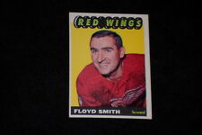 FLOYD SMITH 1965-66 TOPPS SIGNED AUTOGRAPHED CARD #109 RED WINGS