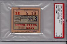 1941 New York Giants/College All-Stars Game PSA Graded Ticket Stub Polo Grounds