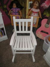 RARE NEW LAND OF NOD CHILD'S WHITE ROCKING CHAIR TWINS