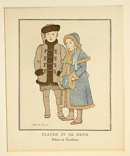"Kinder Children Young Mode Fashion Print ""Gazette du Bon Ton""  Original um 1913"