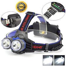 11000 Lumens LED 2X XML T6 Headlamp Headlight Flashlight Head Torch AAA/AA/18650