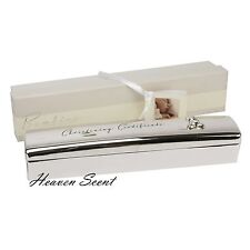 1032 Quality Silver Plated Christening Certificate Holder Gift Ideas Baby Shower