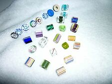 Furnace Cane Glass Beads Assorted Sizes and Colors Jewelry Slides Crafts