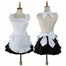 Cute White Retro Kitchen Restaurant Flirty Women Aprons for Women Girls Waitress