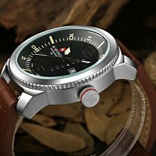 NAVIFORCE 9063 Steel fashion sports quartz men Genuine wrist watch