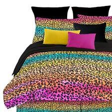 Street Revival Rainbow Leopard Queen Comforter Set, Multi