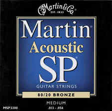 New Martin Medium Acoustic Guitar Strings MSP3200 SP 80/20 Bronze