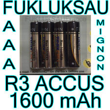 4 x PILES AAA | PILES ACCUS RECHARGEABLE MIGNON 1600mAh Ni-MH 1,2V R3 LR03 NEW