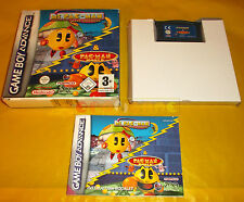 MS PAC_MAN MAZE MADNESS / PAC-MAN WORLD Game Boy Advance Gba ○○ COMPLETO