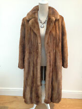 Ladies VINTAGE honey MINK / real fur long coat labelled Christian Dior - medium