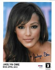 Jaslyn Ome Signed 8x10 Photo PSA/DNA Official Playboy Playmate Headshot Picture