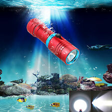 6000LM Scuba Diving 100m CREE XM-L2 LED Underwater Flashlight Torch Waterproof