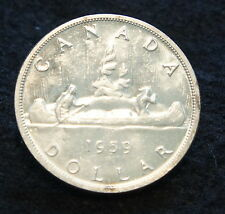 1959 Canadian Silver Dollar BU 80% SILVER PROOF LIKE Extremely NICE old Coin!