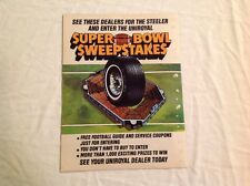 Vintage NFL Super Bowl Sweepstakes Collectible Magazine